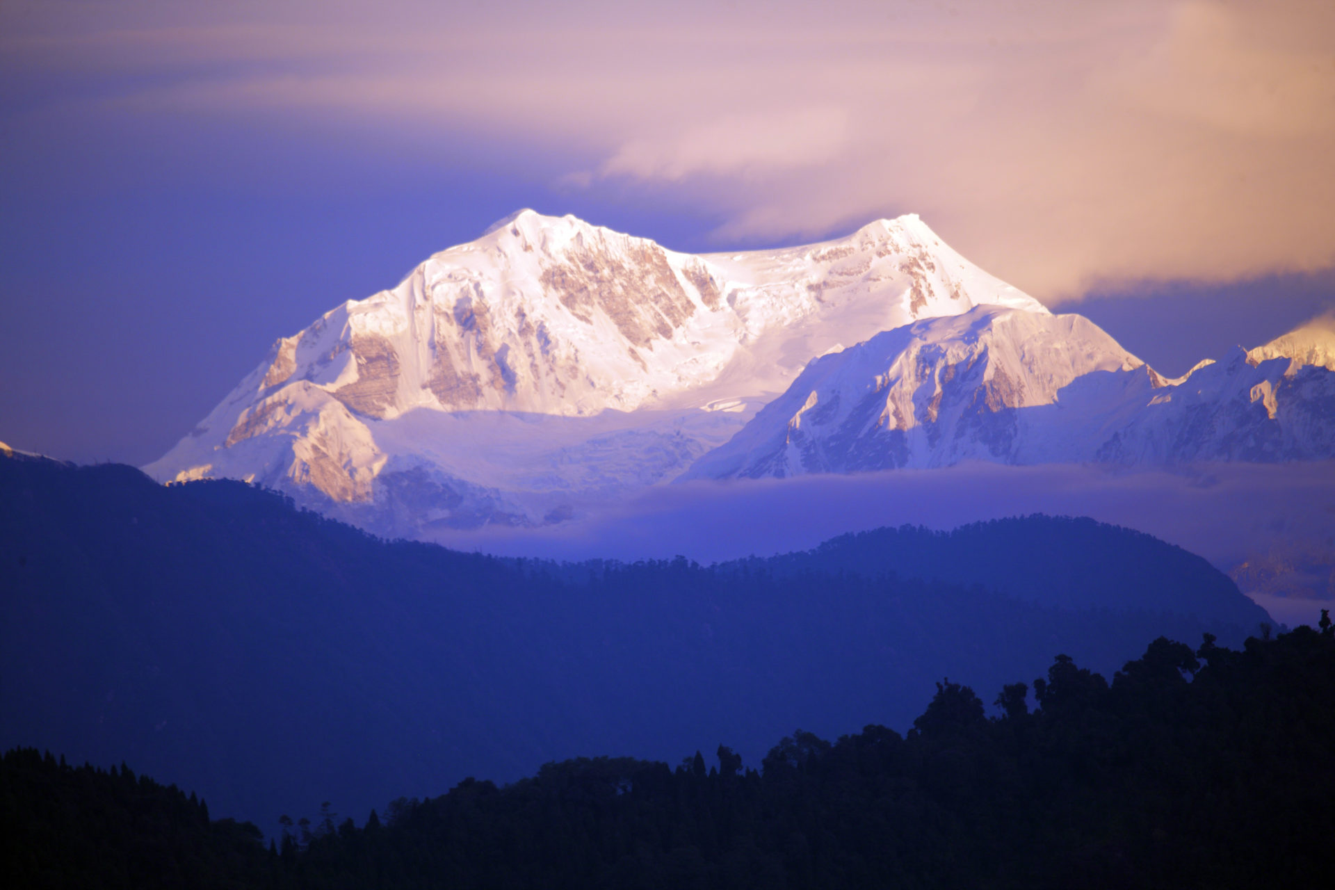 View of Mount Kanchenjunga at Sikkim