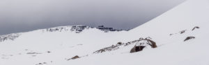A snowy hillside
